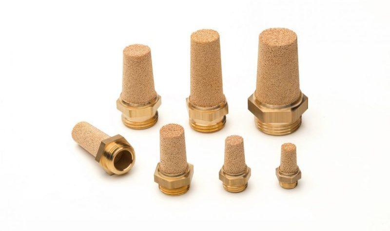 Silenciadores AmesPore de bronce con rosca de laton