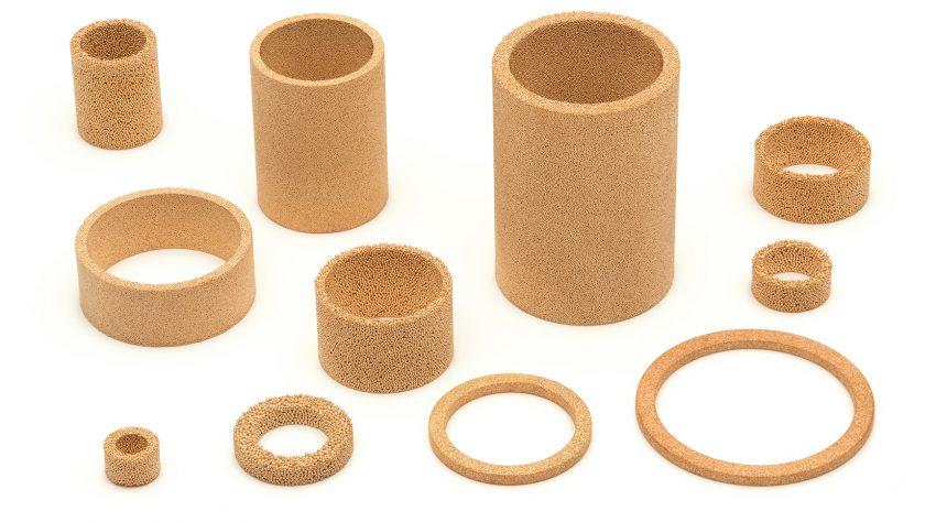 Amespore bronze filter discs