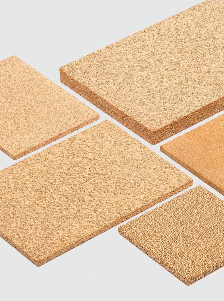 Placas porosas filtrantes AmesPore de bronce