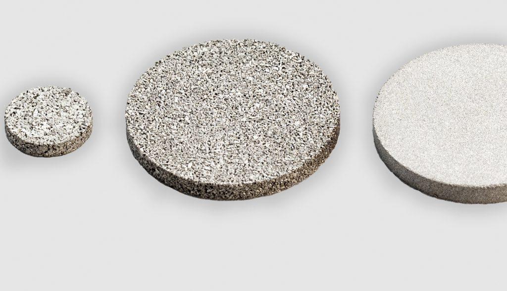 Discos filtrantes AmesPore de acero inoxidable