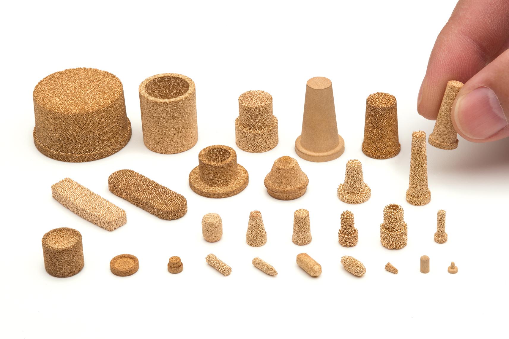 AmesPore porous bronze filter elements