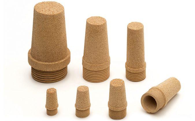 AmesPore® STC mufflers with porous self locking thread