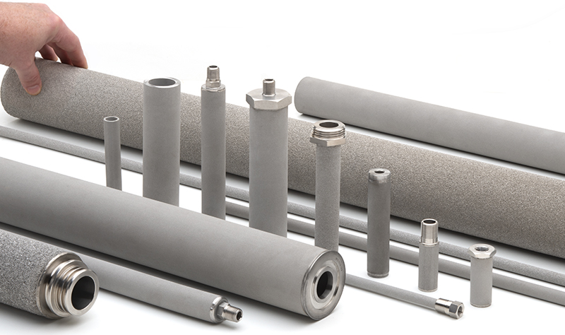 AmesPore® stainless steel candle filters and porous tubes
