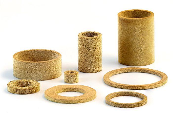 Anneaux de filtre en bronze AmesPore® B