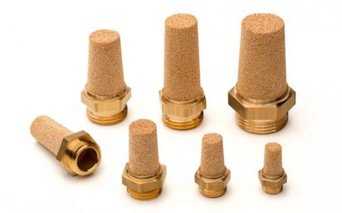 AmesPore® SLC Vollmessing-Gewindeschalldämpfer